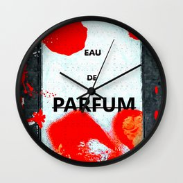 Parfum Box Red Splash Wall Clock
