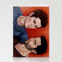 derek hale Stationery Cards featuring Stiles Stilinski and Derek Hale - Nothing Rhymes With Orange by xKxDx