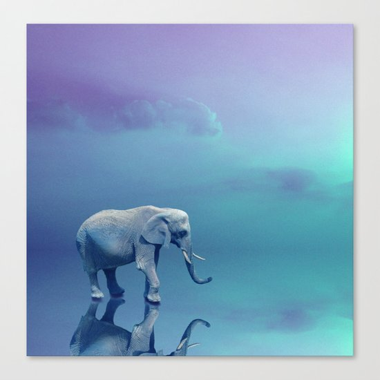 Lonely Elephant Canvas Print