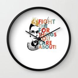 Quote Ruth Bader Ginsburg Feminist Wall Clock