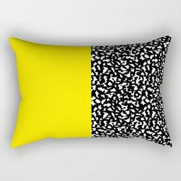 Memphis Black and Yellow 80s Pattern Rectangular Pillow
