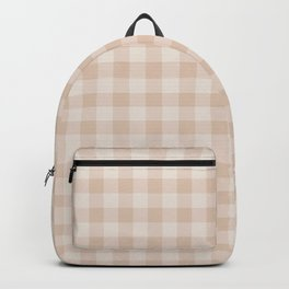 Gingham Pattern - Warm Neutral Backpack