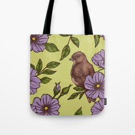 Purple Wild Rose Tote Bag