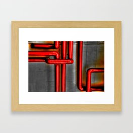 In The Pipes Framed Art Print