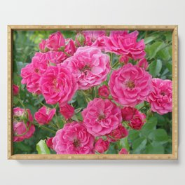 BOUQUET OF PINK ROSES Serving Tray