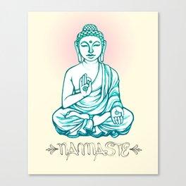 Buddha Namaste Canvas Print