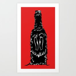 DOG BOTTLE Art Print