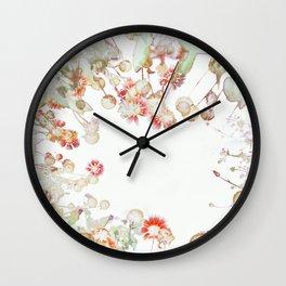 Ethereal Pastel Summer Garden Wall Clock