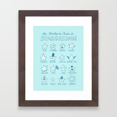 The Amateur's Guide to Stargazing Framed Art Print