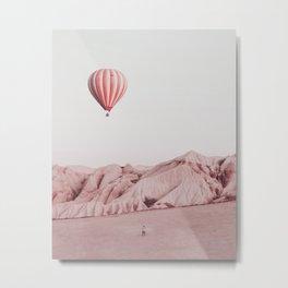 Desert Hot Air Balloon Metal Print