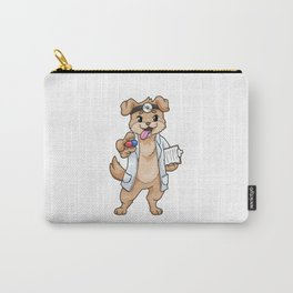Funny dog as a doctor with pills Carry-All Pouch