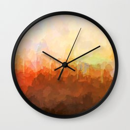 Cincinnati, Ohio Skyline - In the Clouds Wall Clock