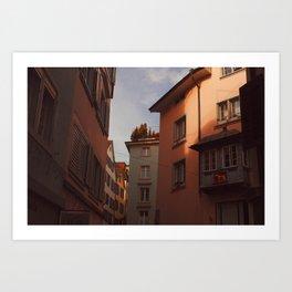 Zurich Alley VI Art Print
