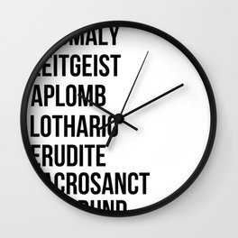 Zachary Quinto and Chris Pine want to enrich YOUR vocabulary. Wall Clock