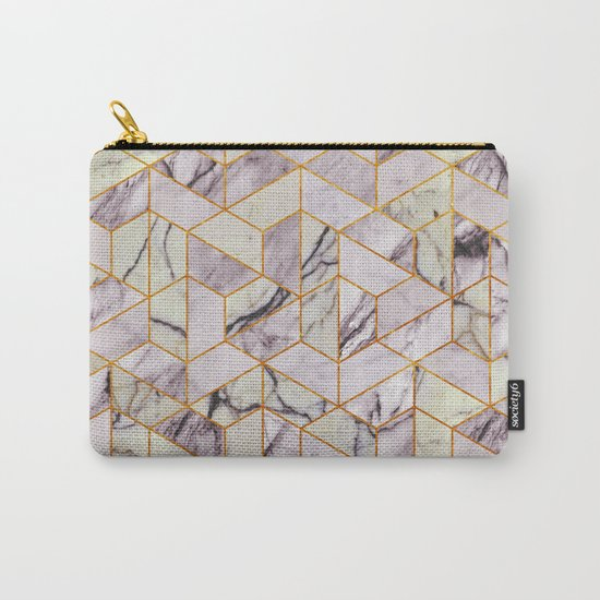 Vintage Marble Art Deco Pattern Carry-All Pouch