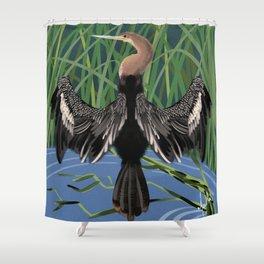 Florida Birds Ahinga Shower Curtain