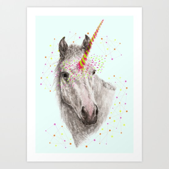 Unicorn V Art Print