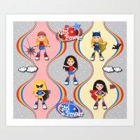 girl power Art Prints featuring Girl Power by Vannina