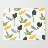 floral pattern Canvas Prints featuring Floral Pattern by Mark Conlan