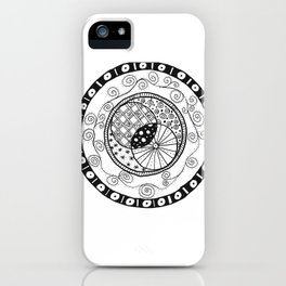 Circle Doodle iPhone Case