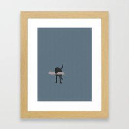 Black Lab Framed Art Print