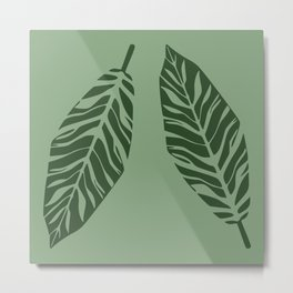 Tropical foliage Green #tropical #leaves #homedecor Metal Print