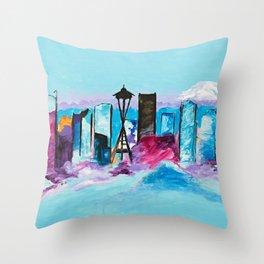 Seattle Skyline Throw Pillow