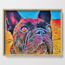 French Bulldog 6 Serving Tray