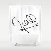 niall horan Shower Curtains featuring Niall Horan - One Direction by Moments Design