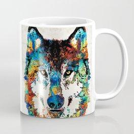 Wolf Art Print - Hungry - By Sharon Cummings Coffee Mug