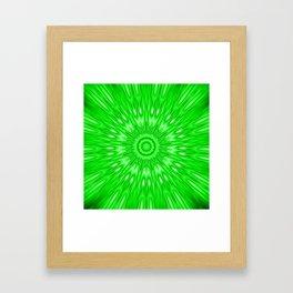 Green Mandala Explosion Framed Art Print