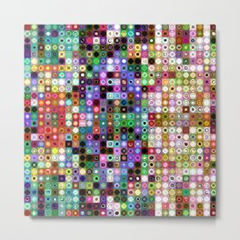 Pattern of Colorful Shapes Metal Print