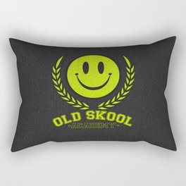 Old Skool Academy Rave Quote Rectangular Pillow