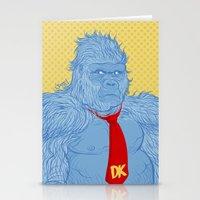 donkey kong Stationery Cards featuring Donkey Kong by Ismael Álvarez