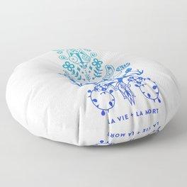 La Vie & La Mort – Blue Ombré Floor Pillow