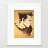 harry styles Framed Art Prints featuring Harry Styles by Drawpassionn