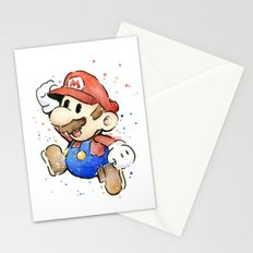 Mario Watercolor Stationery Cards