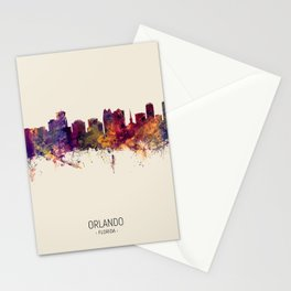 Orlando Florida Skyline Stationery Cards