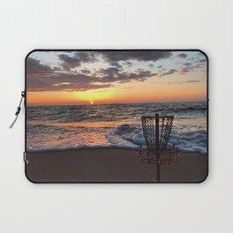 Disc Golf Basket Sunset Virginia Beach Chesapeake Innova Discraft Ocean Waves Laptop Sleeve