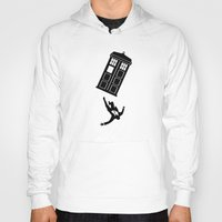 mad men Hoodies featuring Doctor Who - Mad Men by bosphorus