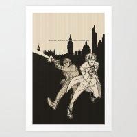heroes Art Prints featuring Heroes by salternates
