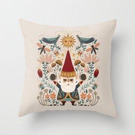 Gnome Life Throw Pillow