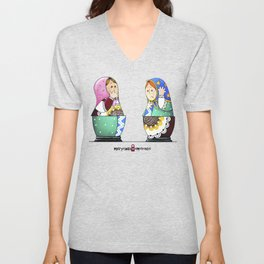 MATRYOSHKA CONFUSED Unisex V-Neck