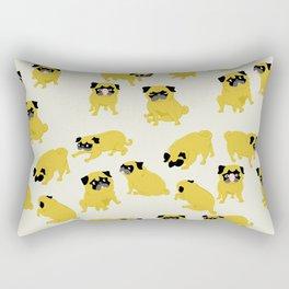 Good Vibes With Nasty The Pug Rectangular Pillow
