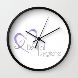 I (heart) Dental Hygiene Wall Clock