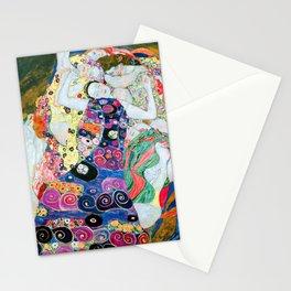 Gustav Klimt - The Maiden - The Virgin - Die Jungfrau - Vienna Secession Painting Stationery Cards