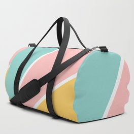 Tropical summer pastel pink turquoise yellow color block geometric pattern Duffle Bag