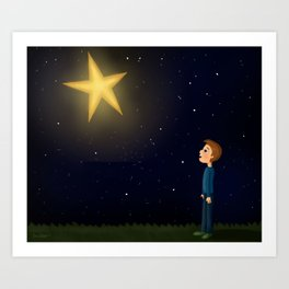 Star Gazer... Art Print