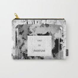 Perfume Black and White Carry-All Pouch