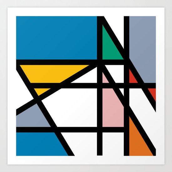 Mondriana (inspired by art) Art Print
